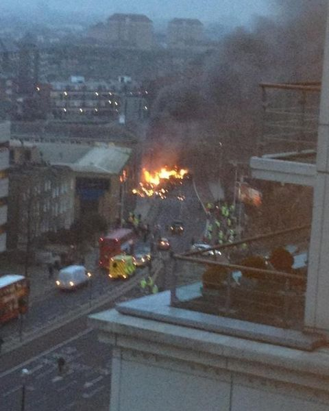 Helikopter crash Londen