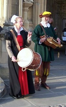 pipe and tabor and hurdy gurdy