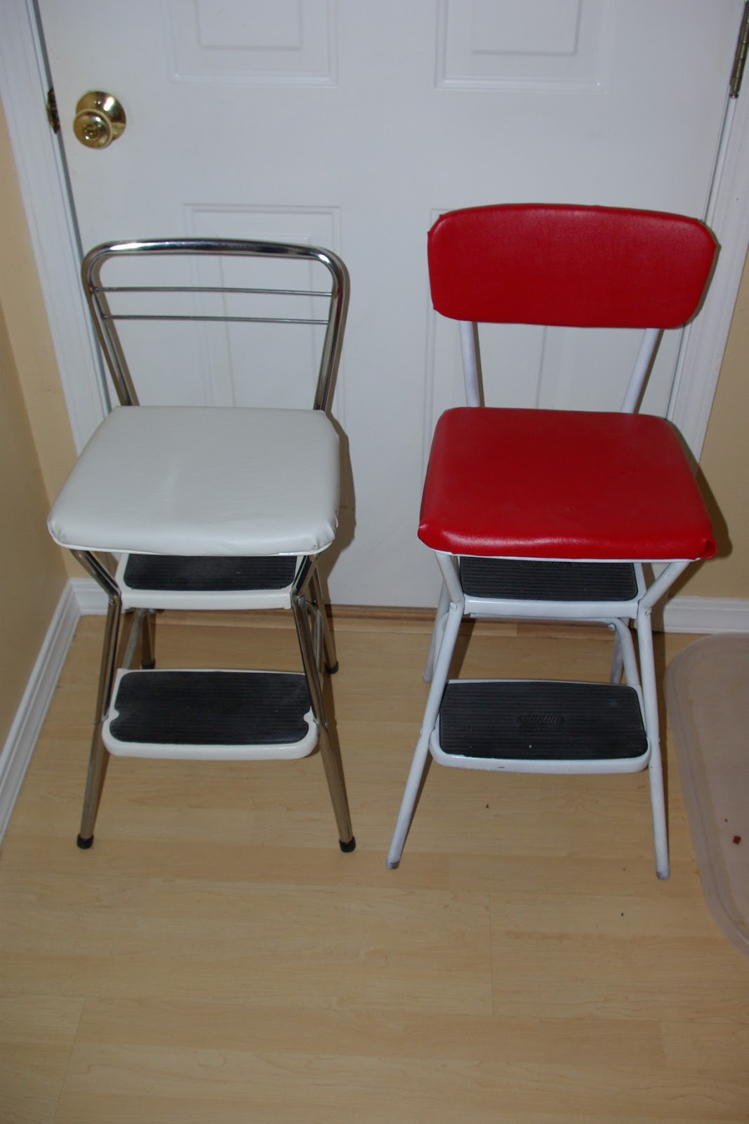 Reclaimed Rustics Mid Century Cosco Step Stools Chairs