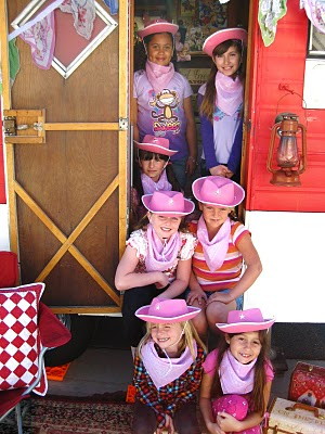 A Cowgirl Birthday Party with Grandma's Trailer!