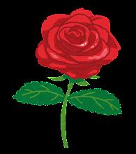 バラのイラスト「赤」