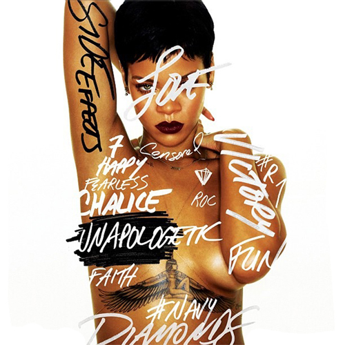 Album art: Rihanna - Unapologetic | RandomJpop.blogspot.co.uk