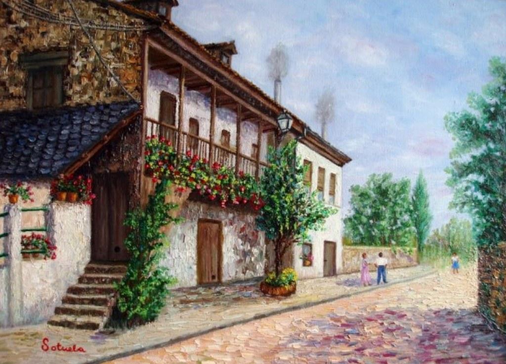 Pintura moderna y fotograf a art stica paisajes for La casa de las pinturas