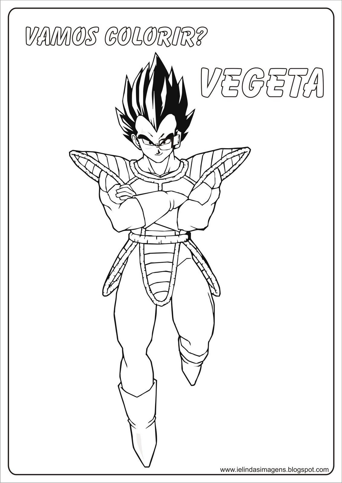 Dibujos para colorear de Dragon Ball Z vegetal - Imagui