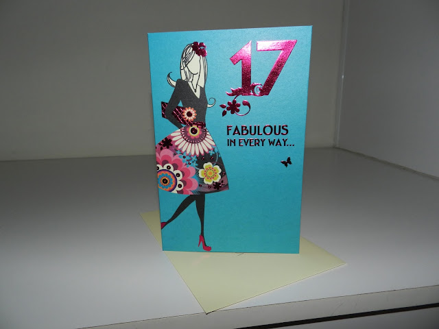 fashionable birthday card, seventeen