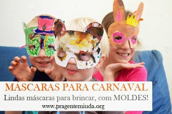 Máscaras para brincar no carnaval