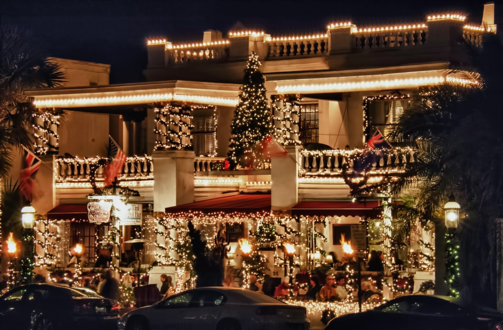 St Augustine Eats Question Christmas Lights On A T Picture Of The Casablanca Inn During Nights For Holidays