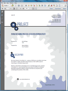 proposal package for riordan manufacturing Business systems overview for riordan manufacturing information technology essay print riordan manufacturing uses an inventory control system to team d has structured a proposal to collaborate the business and manufacturing expertise of riordan manufacturing with team d technical.