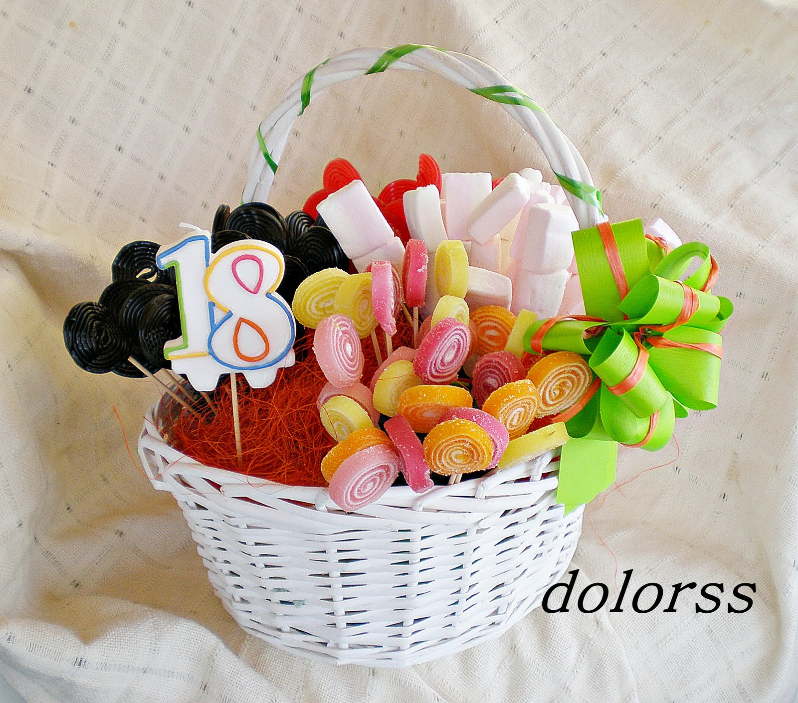Blog de cuina de la dolorss cesta de chuches for Decoracion de cestas