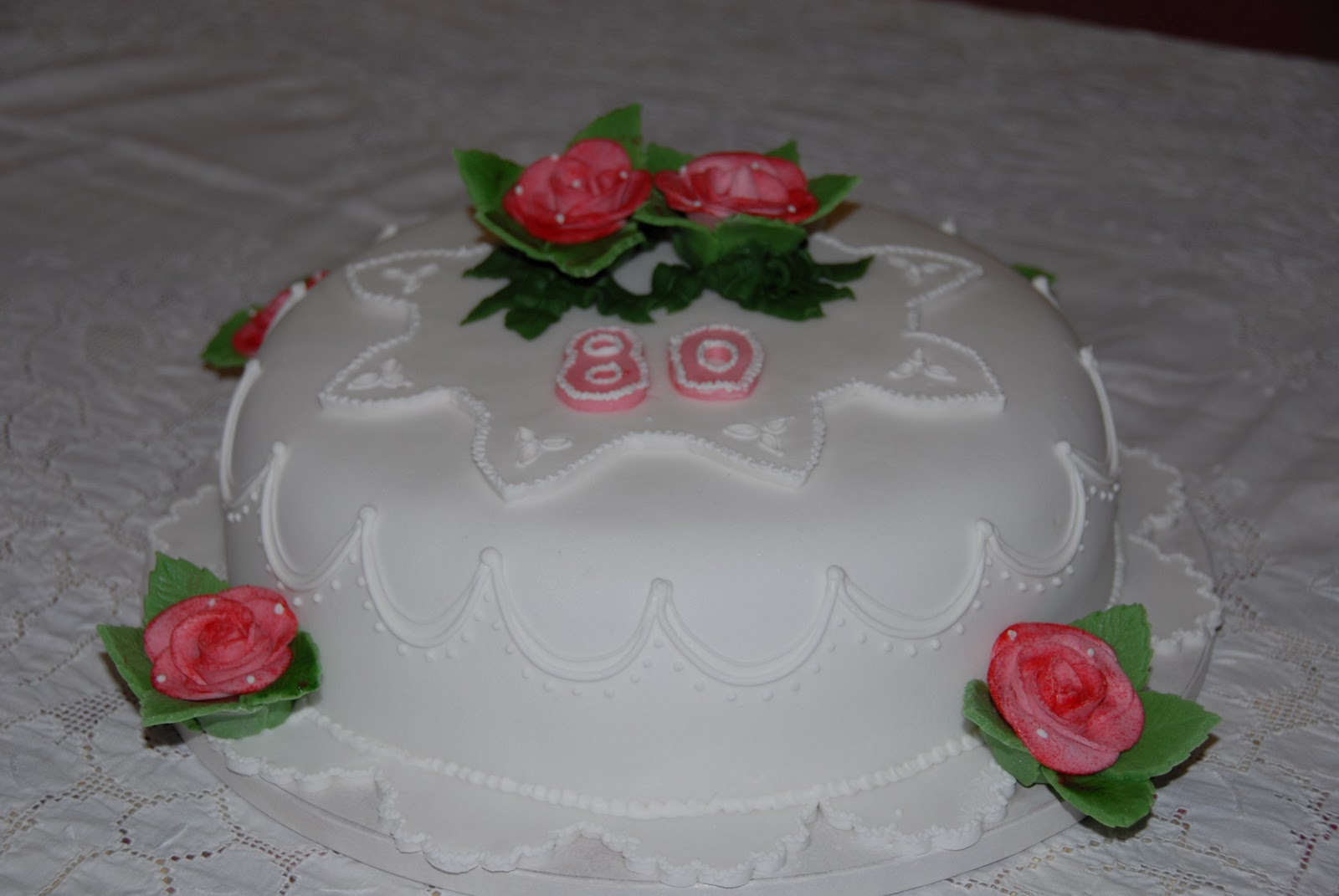 Torte decorate 80 anni