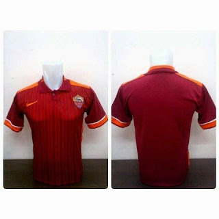 gambar photo asli kamera Jersey As Roma home leaked musim depan 2015/2016