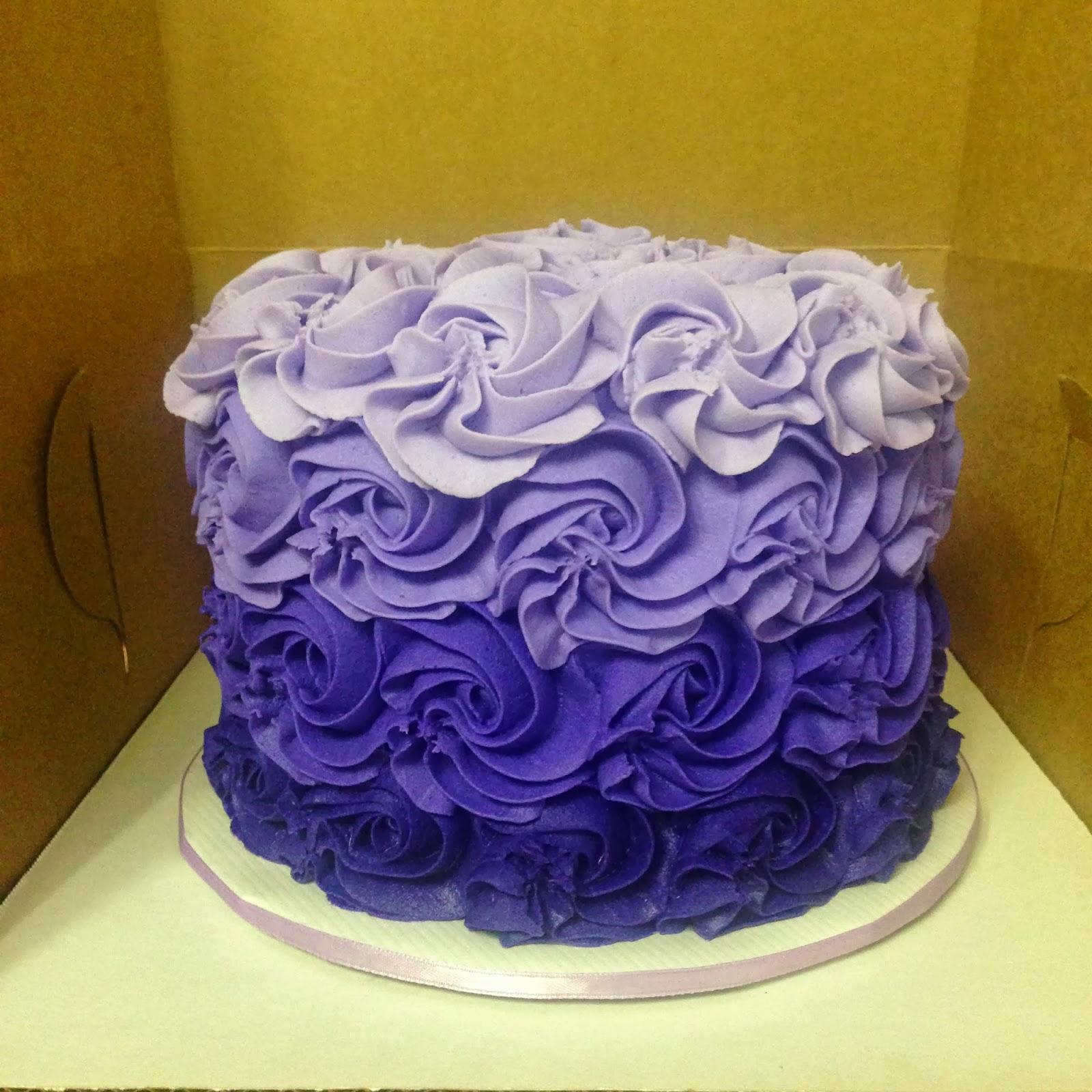Rosette Cake Design : Cakes by Mindy: Purple Rosette Cake 6