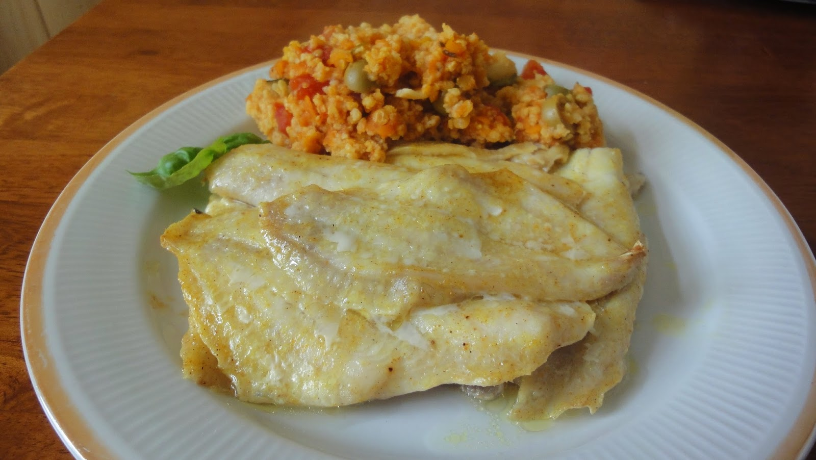 Ryba z kaszą jaglaną