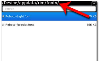 cara nambah font bb Cara Menambah Font Di BB Gemini 8520