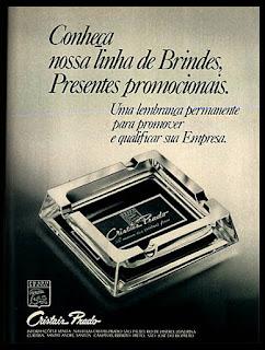 cristais Prado, 1975. propaganda década de 70. Oswaldo Hernandez. anos 70. Reclame anos 70