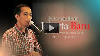 Presentasi Jokowi di depan Relawan