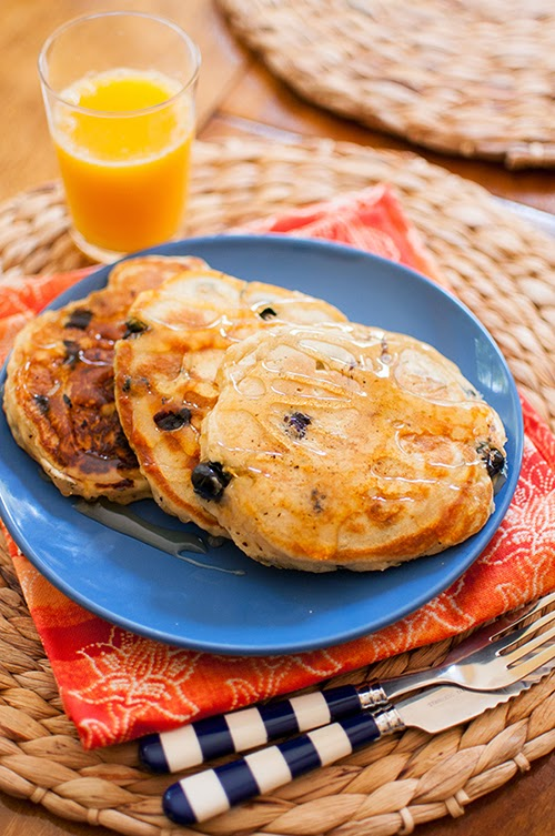 College Prep: RECIPE: Blueberry Lemon Pancakes