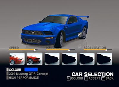 Pilihan mobil Game Balap Ford Street Racing