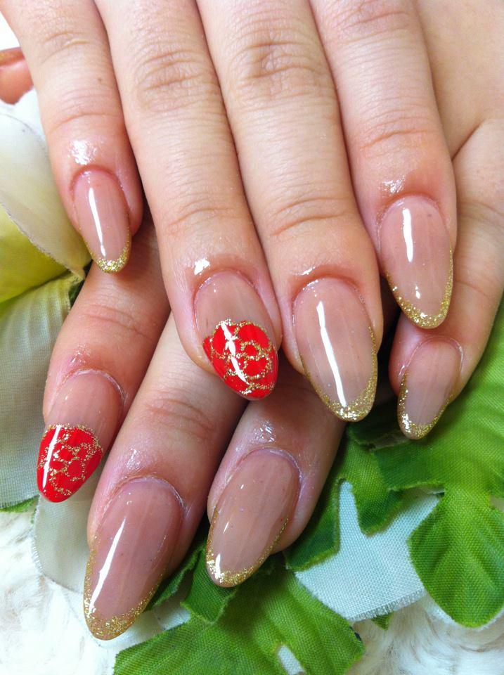 ♥Cute Nail Designs♥: Simple Beige Acrylic Nails by Ayano