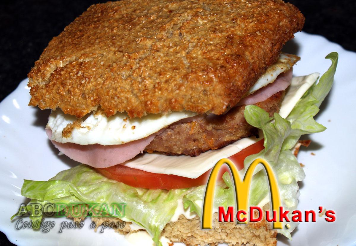 hamburguesa dukan completa