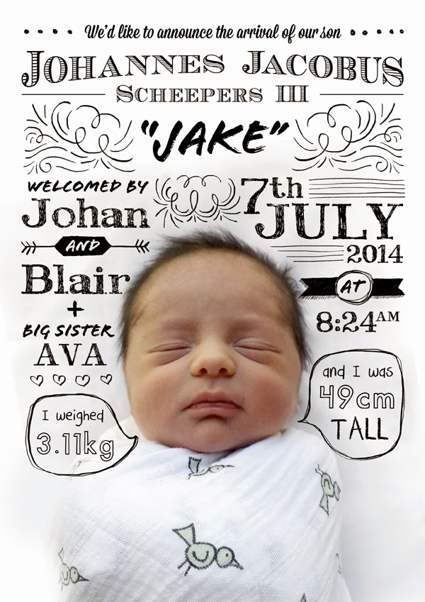 Happiness is Recent Work A Fun Typographic Birth Announcement – Birth Announcement Idea