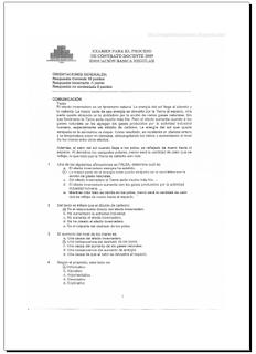 ... el Examen de Contrato Docente 2013 - S imulacro . Prueba 20 Enero