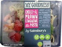 Sainsbury My Goodness chilli prawn linguine pasta