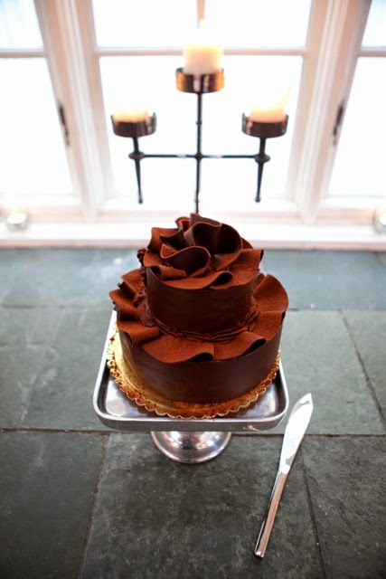 Chocolate Wedding Cake - Kent Buttars, Seattle Wedding Officiant