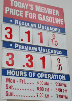 Costco gas for July 3, 2015 at Redwood City, CA