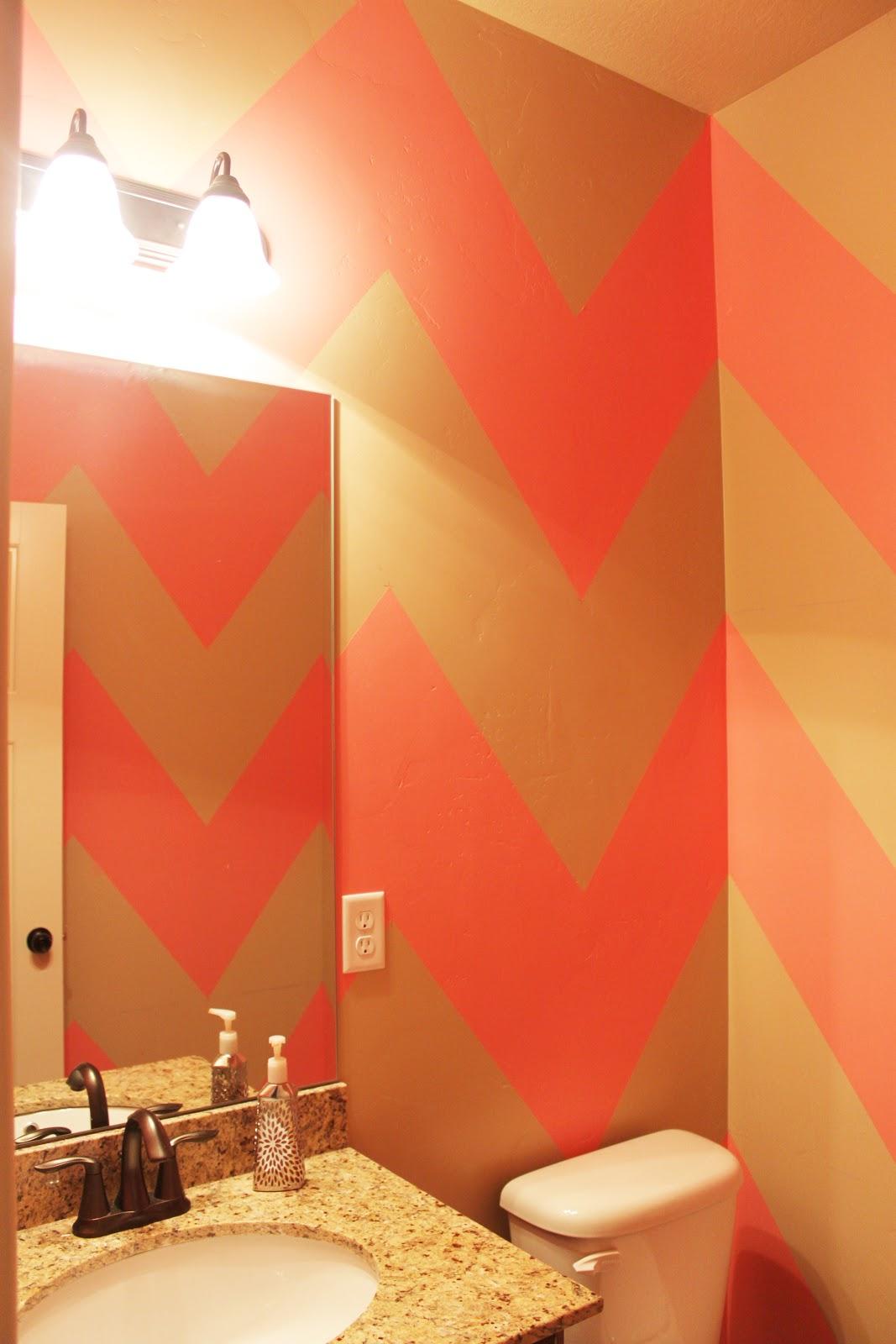 DIY Chevron Bathroom Wall Dani Marie Blog