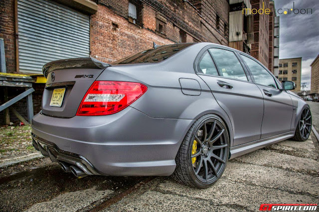 mercedes benz c 63 gray matte