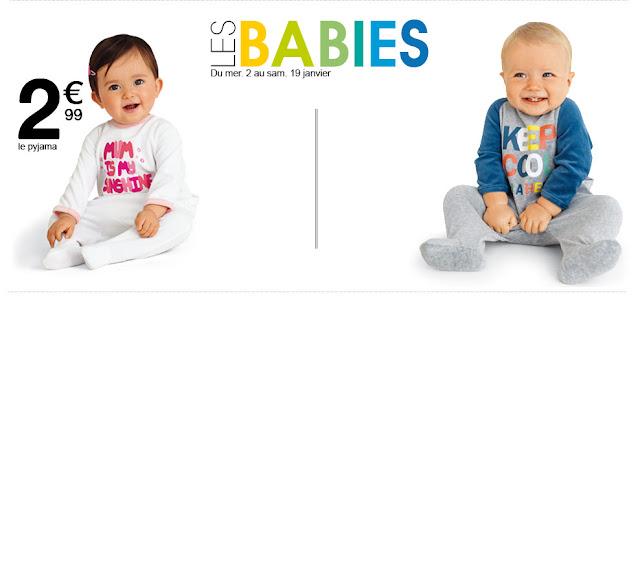 Kiabi: Pyjamas bébé à 2,99€ !