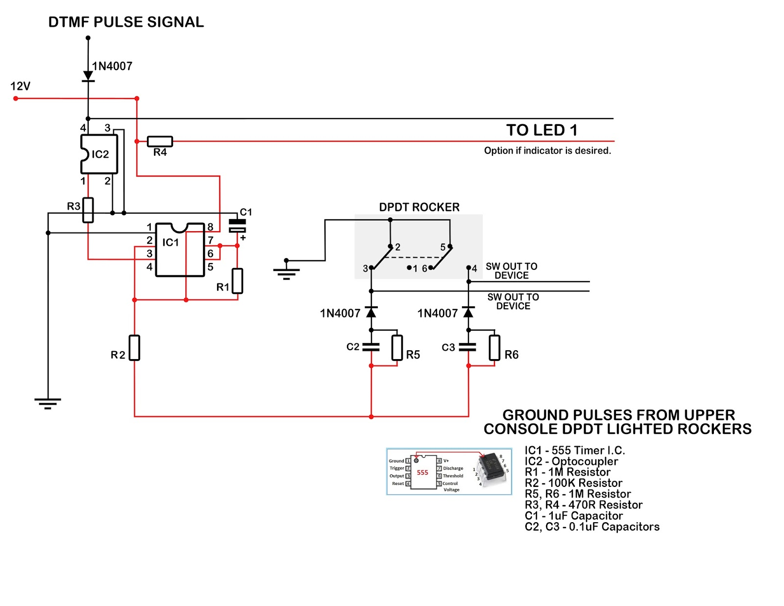 My Knight Rider 2000 Project Momentary Pulse For Latching Switches 555 Timer Circuit Diagrams In Addition Ic On Here Is A Diagram Showing How I Have The Wired Up To This Really Great Because Originally Thought Was Going Need