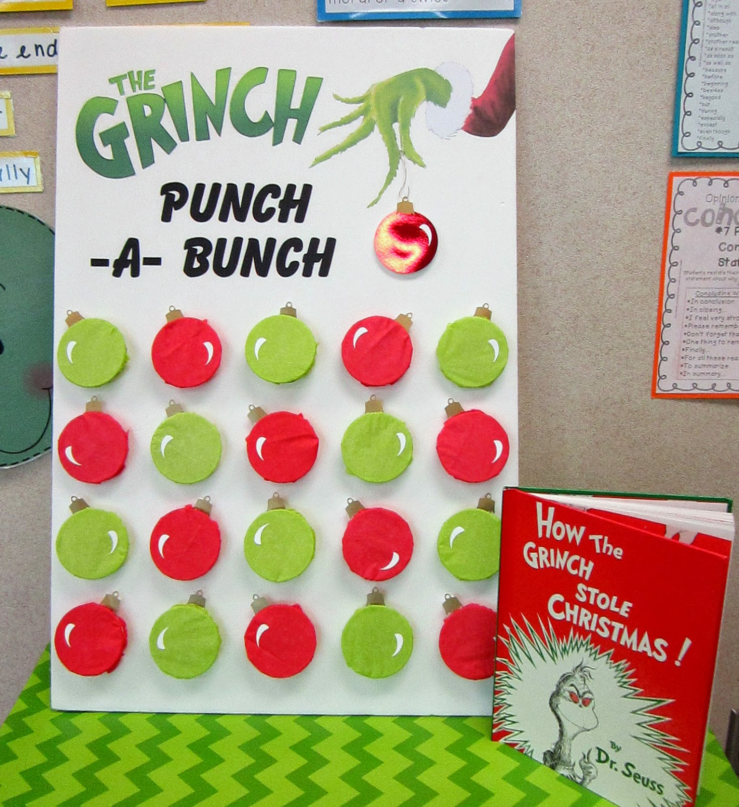 One Of The Rotations Was A Grinch Punch a bunch Game