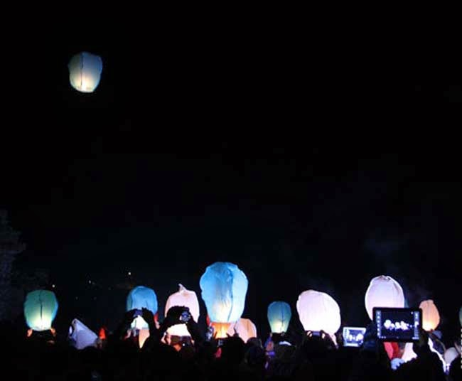 Ada Festival Lampion di Dieng Culture festival