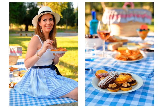 summer sunday picnic fashion food