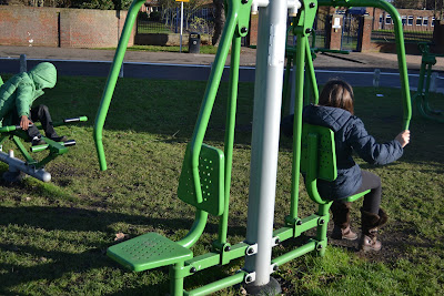 children using green gym