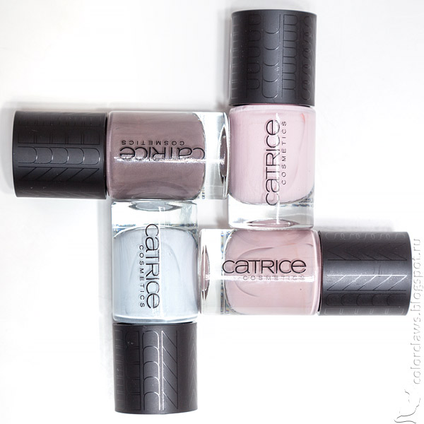Catrice #01 Taupe-less, #02 Barely Pink, #03 Pure Blue, #04 Naked Brown