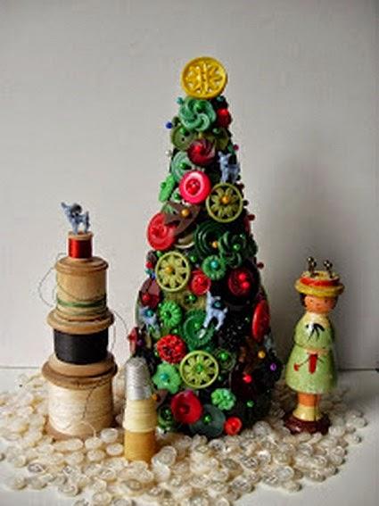 Centros de Mesa para Navidad con Materiales Recilados