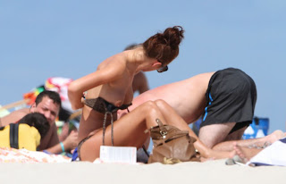 on Miami beach topless Rosie Jones