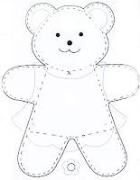 Moldes de E.V.A para festa infantil - Ursos