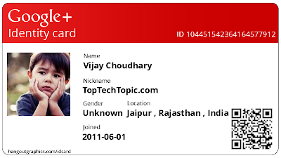 Create Free Google+ Id card
