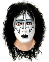 KISS - Spaceman Latex Full Mask With Hair Adult