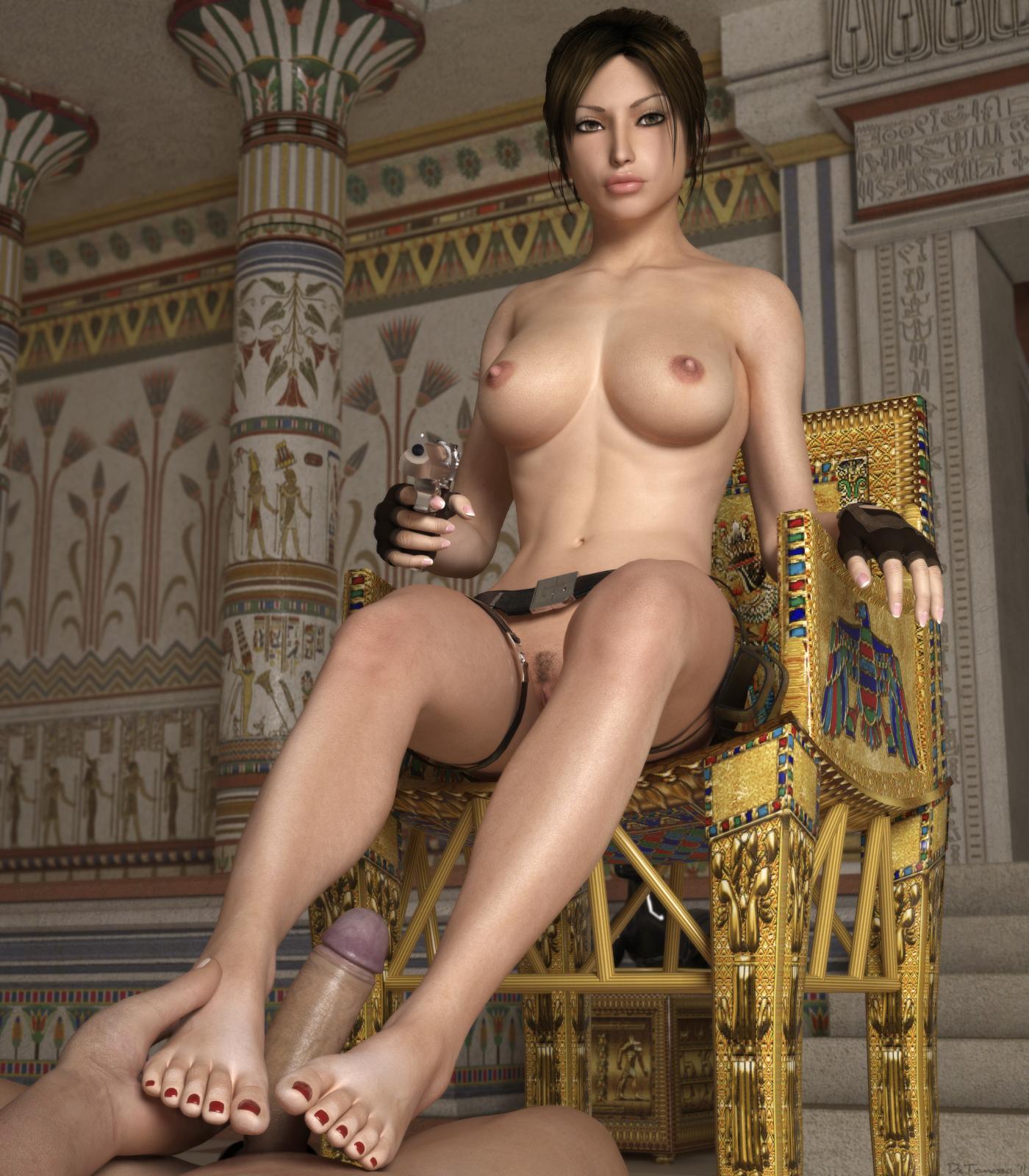 Lara croft nude footjob