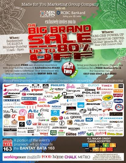 The Big Brand Sale 2014: Free Entrance, free tickets, sale, Philippines promo, Big Brand Sale, ABS CBN