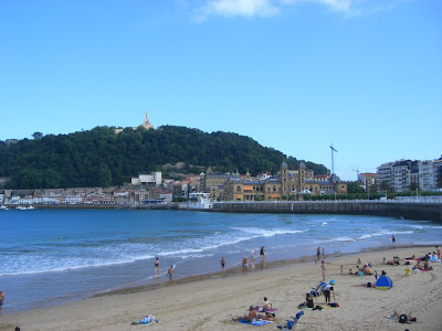 Beach of La Concha in San Sebastian