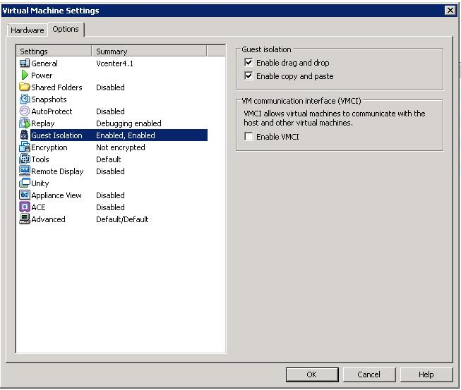 Enable Drag and Drop in VMware Workstation