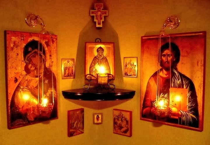 Kandylaki how to set up an icon corner at home - Home altar designs ...