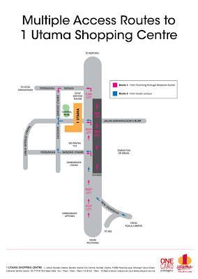 Bandar Utama access road map