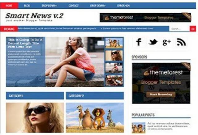 Blogger Şifresiz Magazin Template